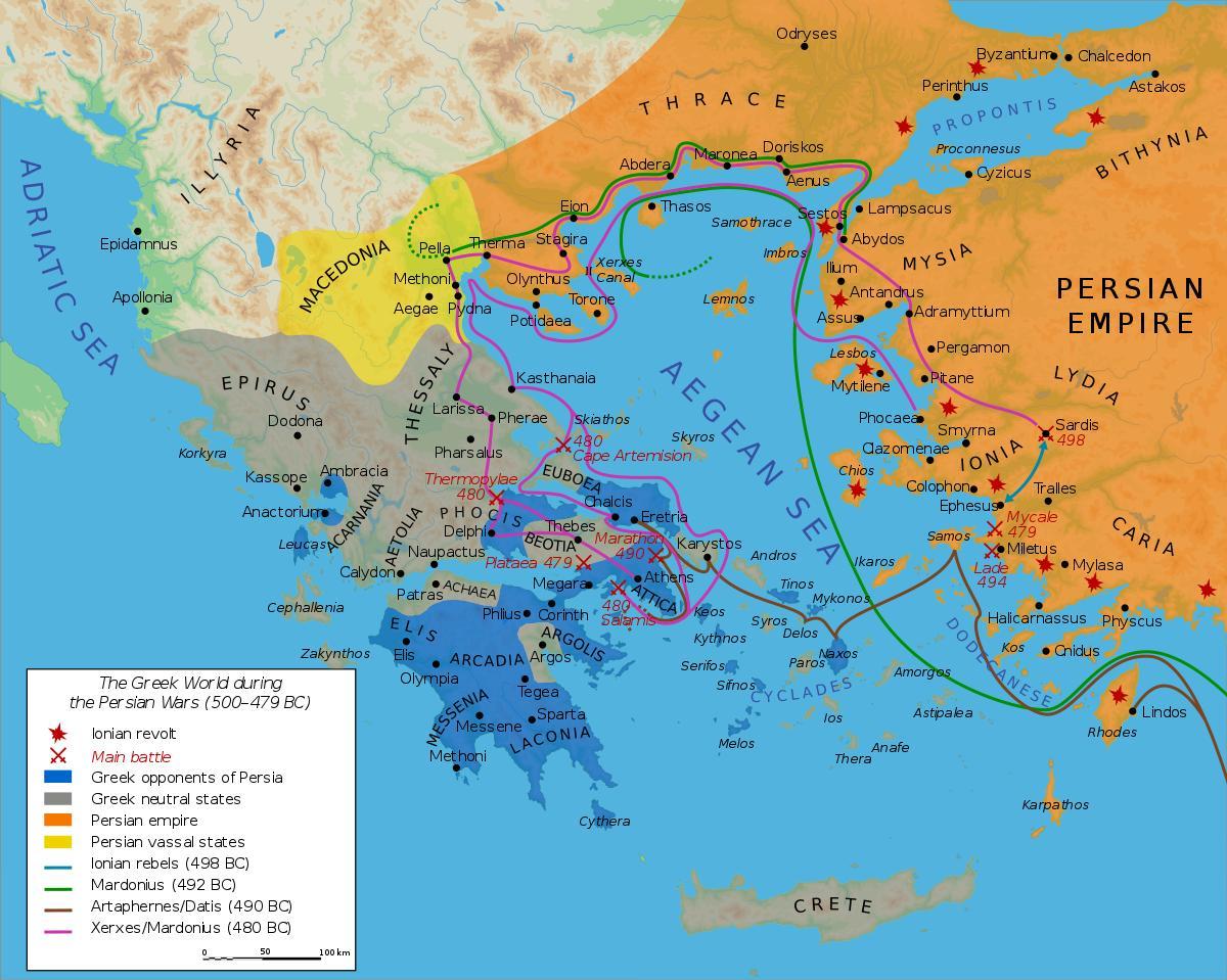 Persien Karte.Antiken Griechenland Und Persien Landkarte Karte Des Antiken