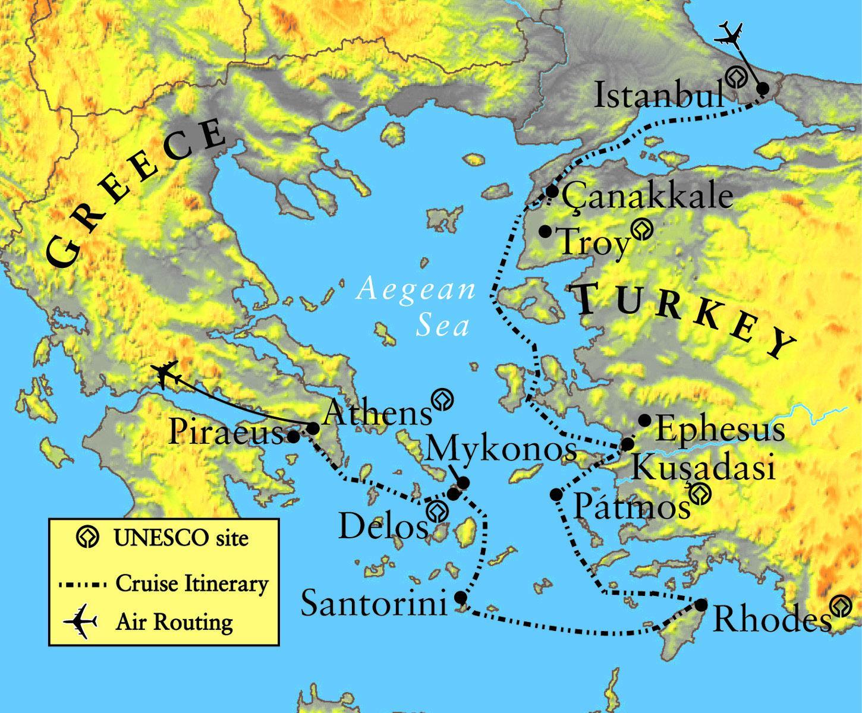 Griechenland Und Troja Map Karte Von Troja Und Griechenland