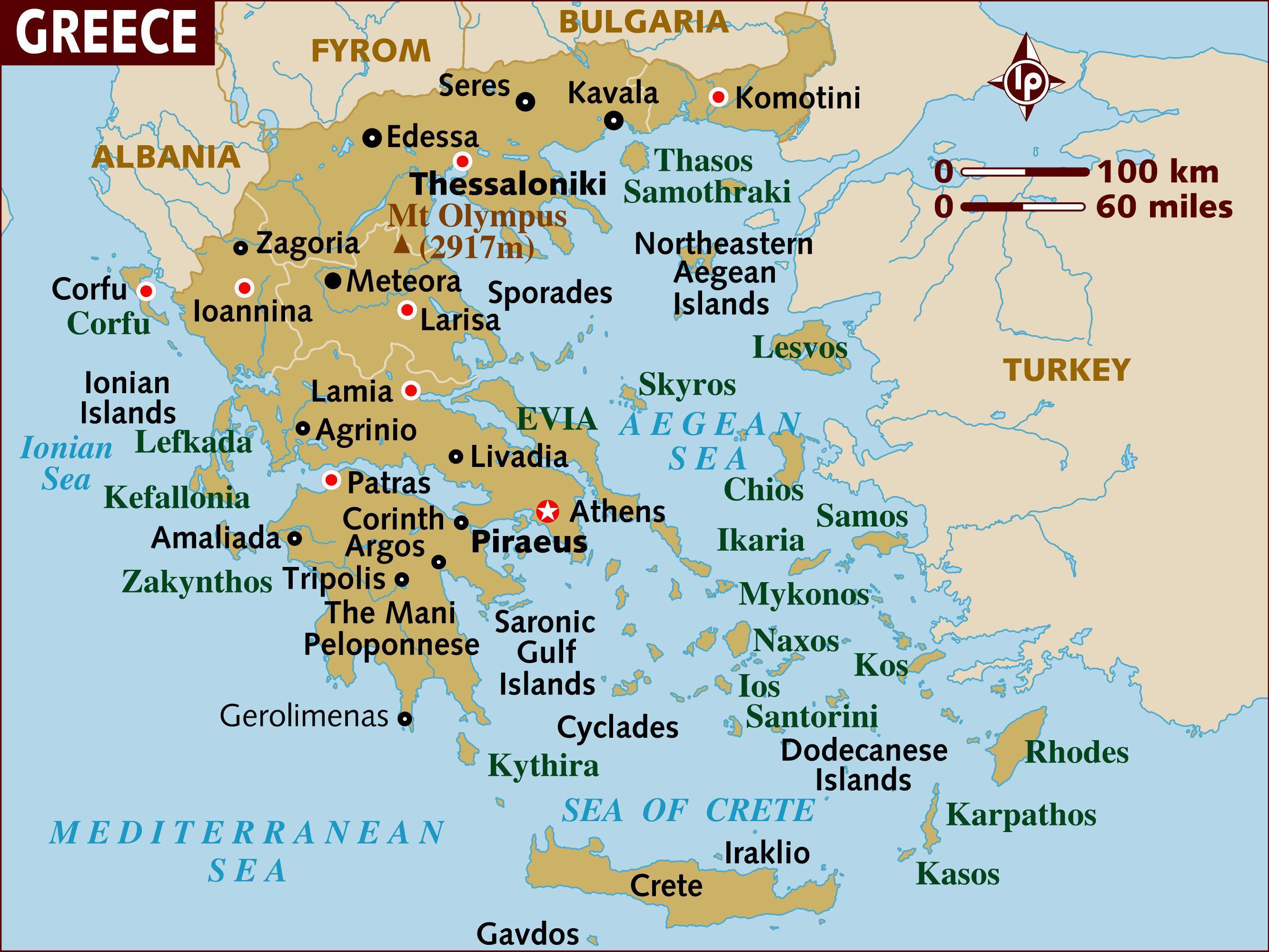 Karte Griechenland Mykonos.Karte Von Griechenland Inseln Karte Der Griechischen Inseln