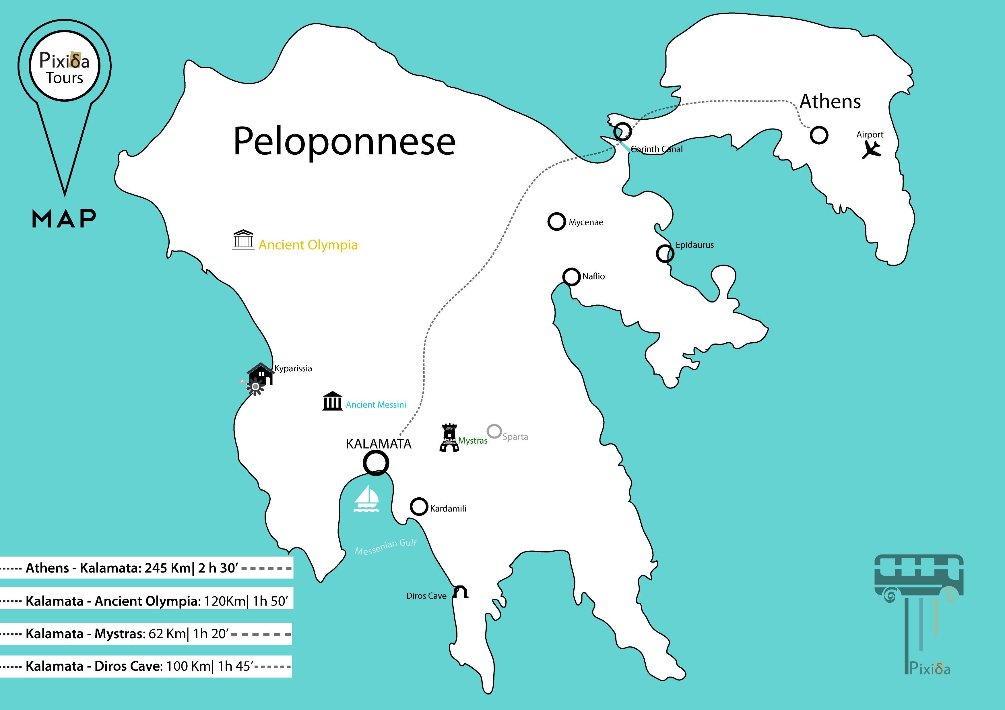 Griechenland Peloponnes Karte Deutsch.Peloponnes Das Antike Griechenland Karte Karte Von Griechenland