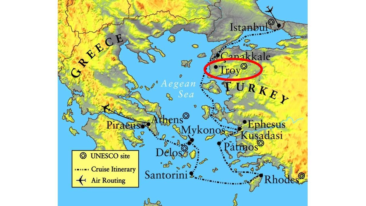 Karte Griechenland Mykonos.Troy Griechenland Karte Karte Von Griechenland Troy Europa Süd