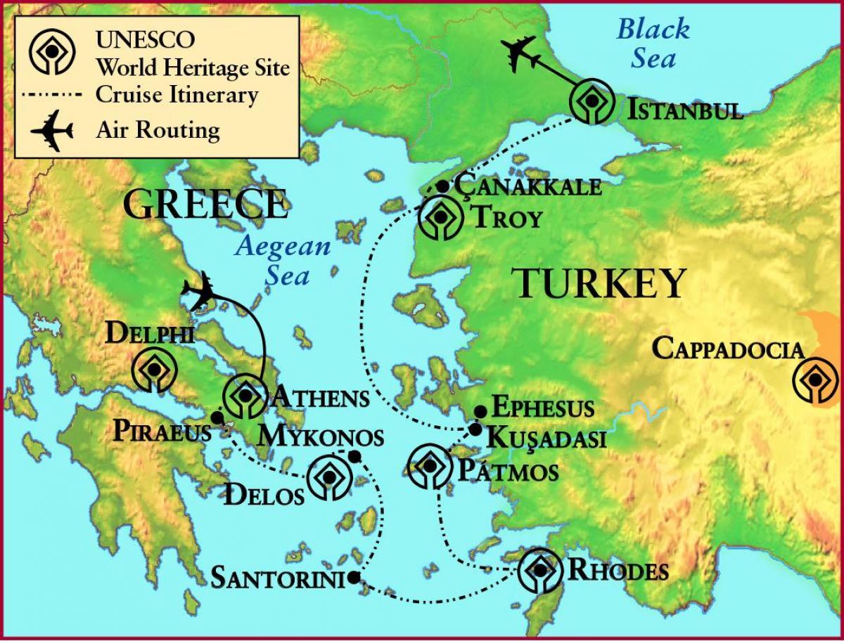 Antike Griechenland Troja Karte Karte Von Griechenland Und