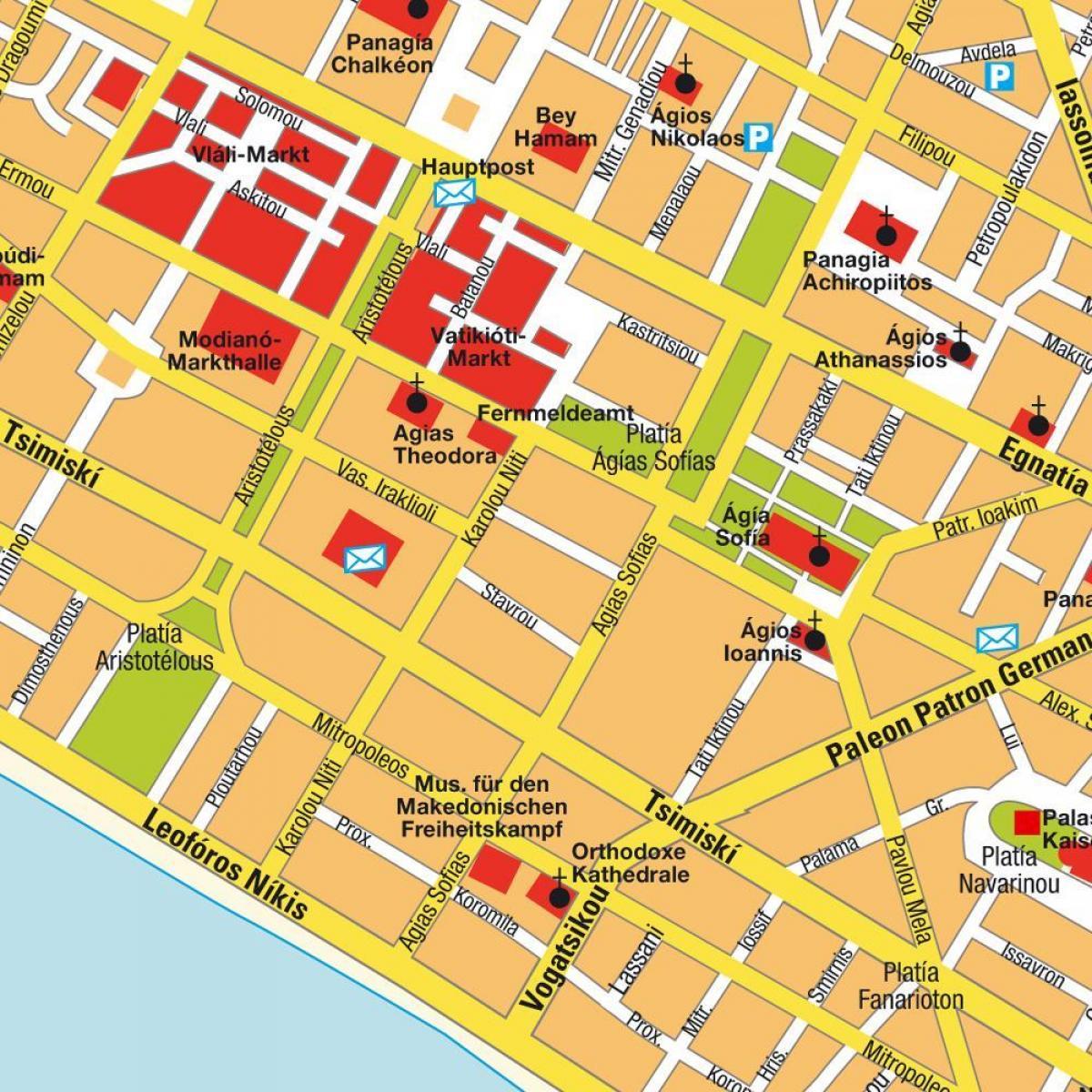 Thessaloniki Karte.Griechenland Thessaloniki Karte Karte Von Griechenland Mit Sitz In