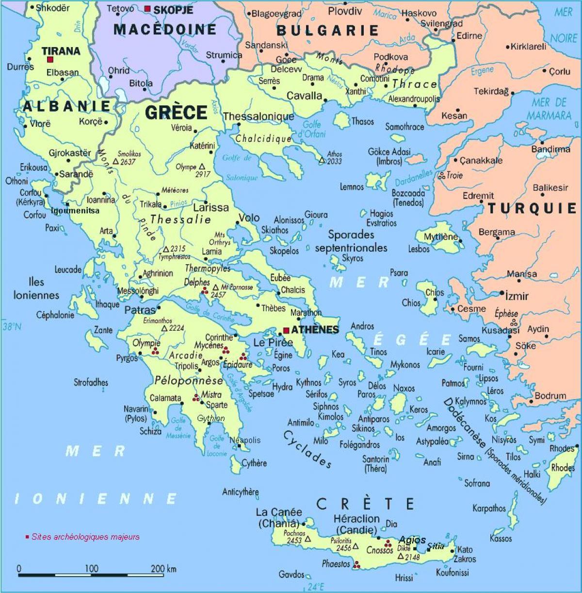 Griechenland Inseln Karte Karte Von Griechenland Mit Den Inseln