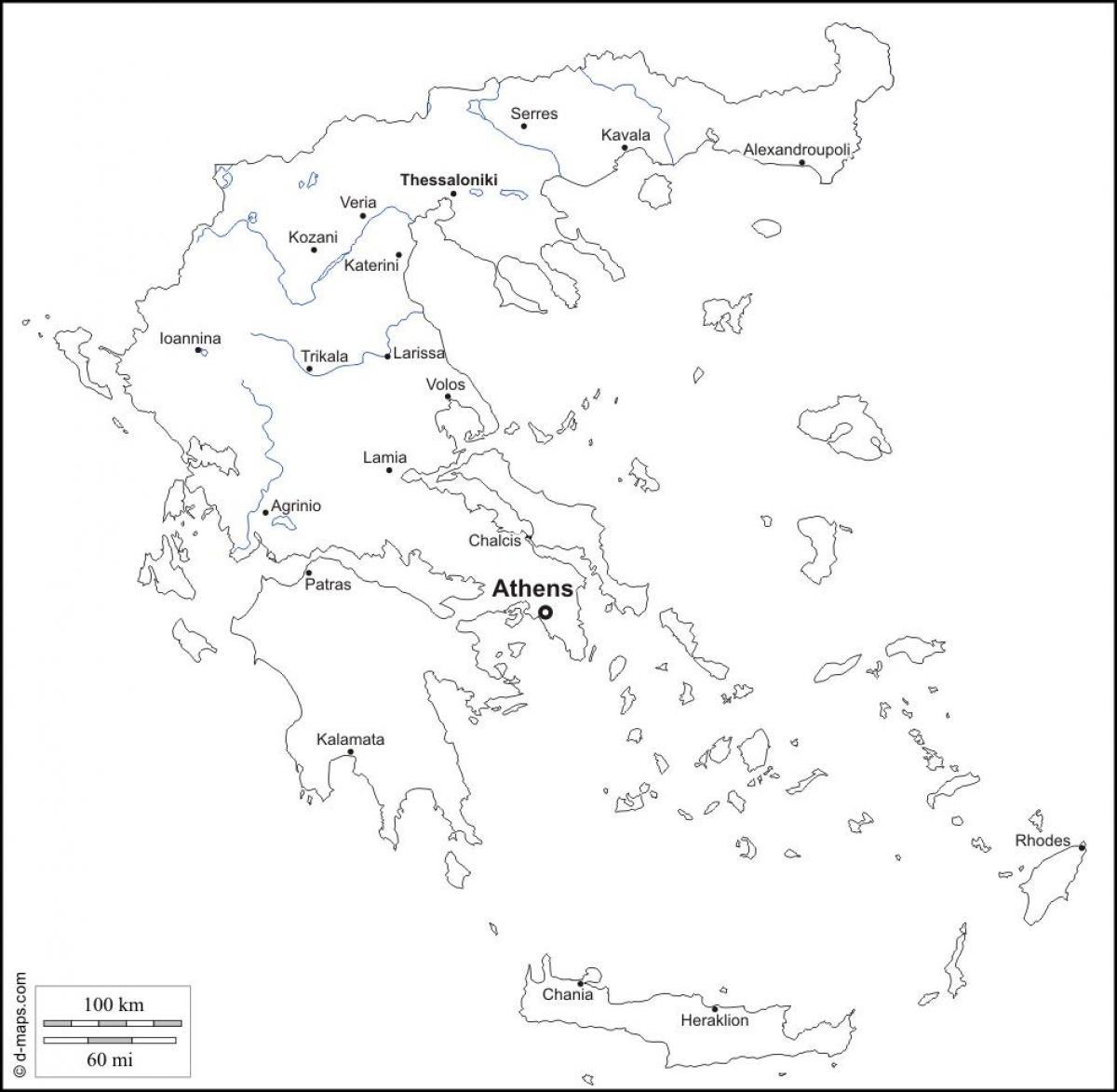 Karte Europa Schwarz Weiss.Griechenland Landkarte In Schwarz Und Weiss Karte Von