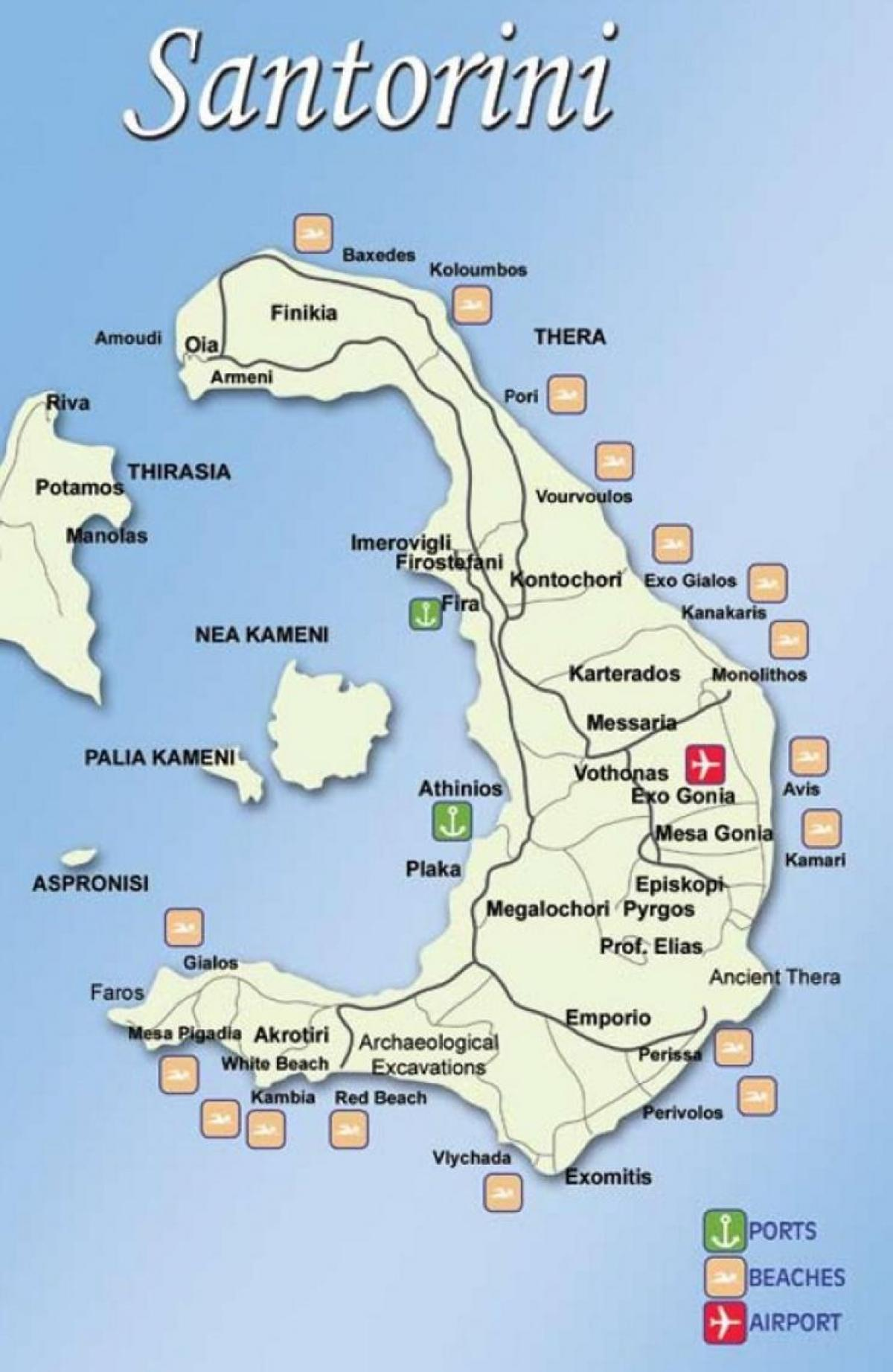 griechische inseln landkarte santorin karte der griechischen inseln santorin europa s d europa. Black Bedroom Furniture Sets. Home Design Ideas