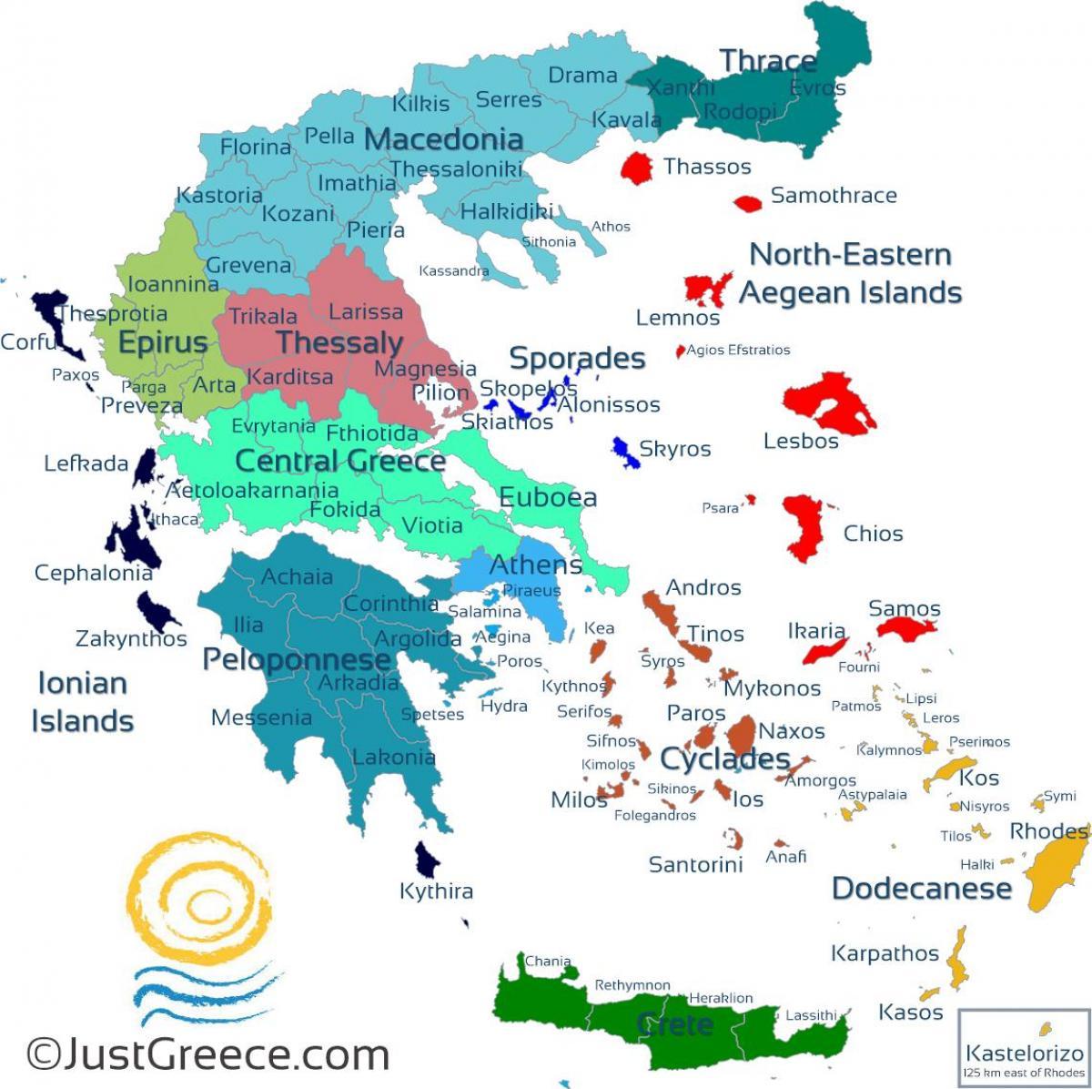 Landkarte Griechische Inseln Griechische Inseln Karte Europa