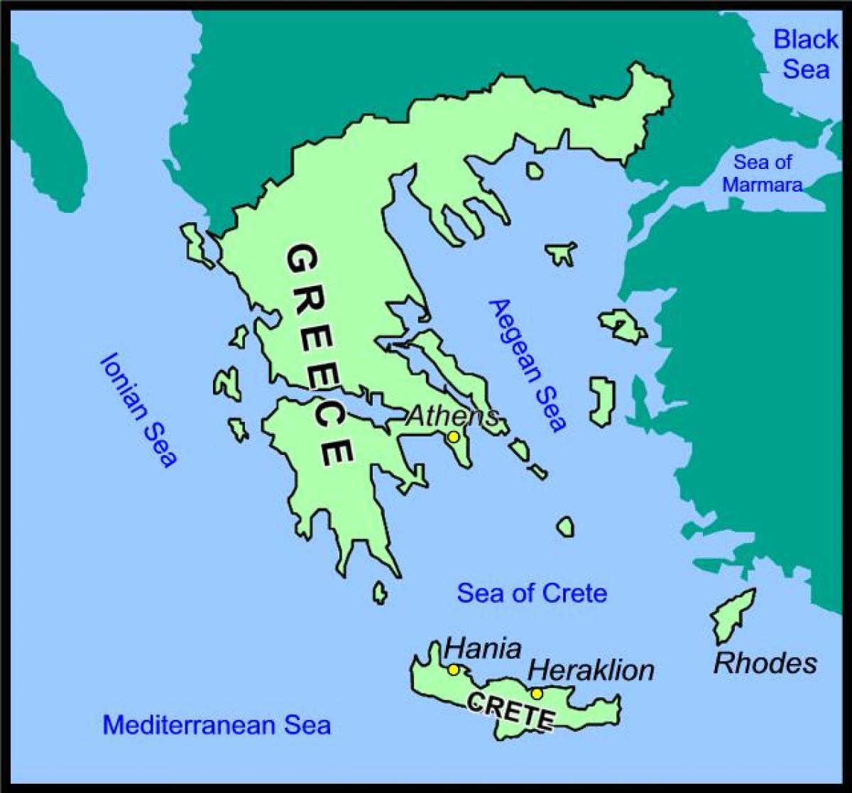 Griechenland Karte Kreta.Kreta Griechenland Karte Karte Von Kreta Und Griechenland