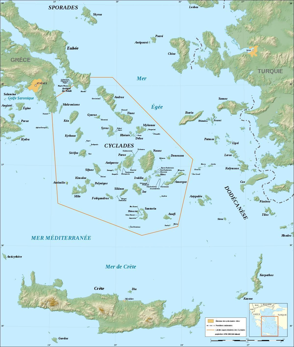 Kykladen Karte.Kykladen Griechenland Karte Karte Von Kykladen Griechische Inseln