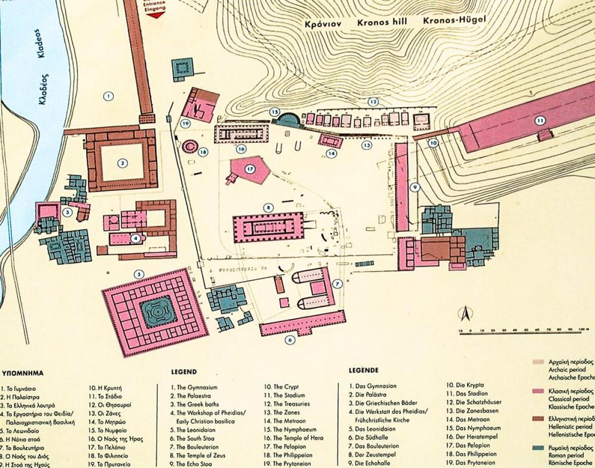 karte olympia griechenland Olympia, Griechenland Karte   Karte von Olympia, Griechenland